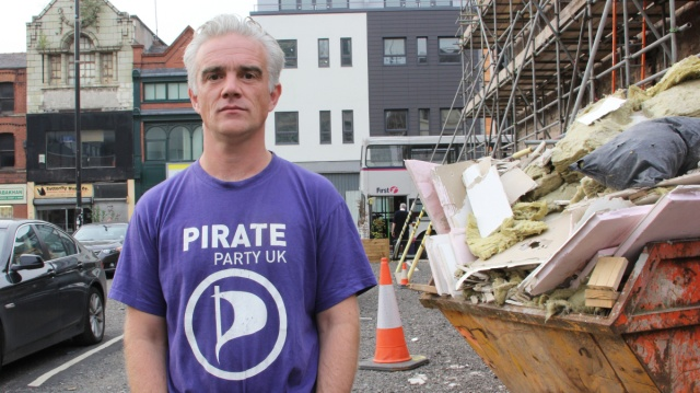 Loz Kaye, leader of Pirate Party UK.