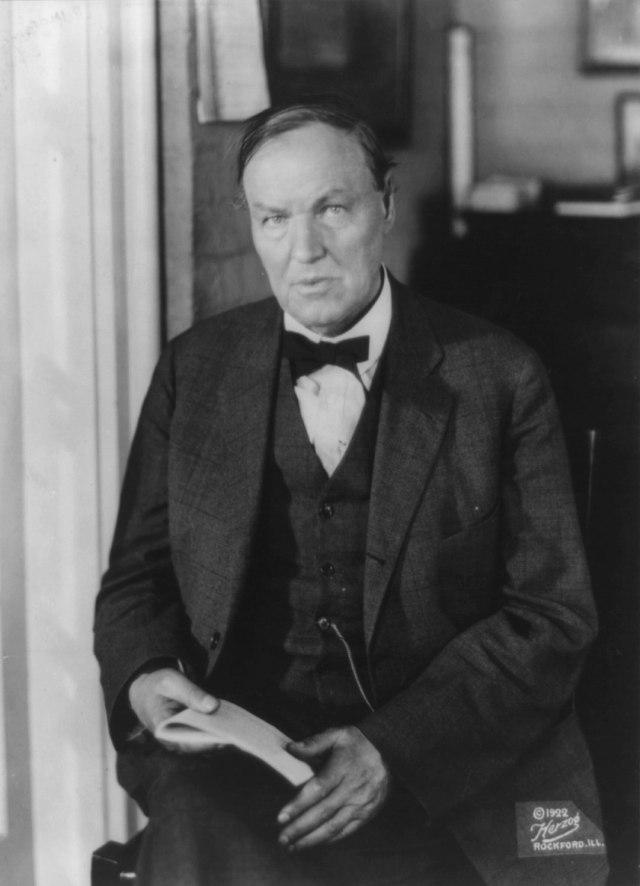 Clarence Seward Darrow circa 1922.